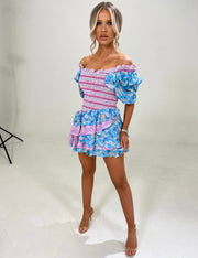 LOLA Boho Ruffle Dress (BLUE)