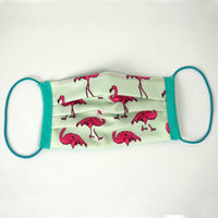 'Pink Flamingo' Reversible Face Mask