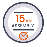 15 minutes only assembly time