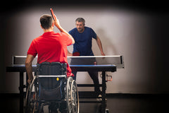 Wheelchair-accessible ping pong table