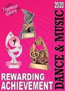 Dance and Music trophies for all - available online or collect from Gold Coast Trophies, near Surfers Paradise
