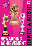 Interleisure 2021 Dance and music trophies catalogue at GC Trophies