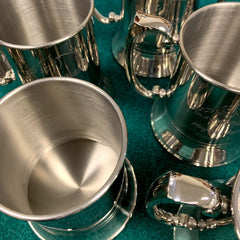 stainless steel beer tankards engraving with custom design for you - Gold Coast Trophies, near Robina