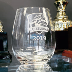 custom glass engraving at Gold Coast Trophies, Qld