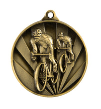 Load image into Gallery viewer, Cycling Sunrise Medal - 50mm