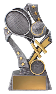 Tennis Theme Flag Trophy