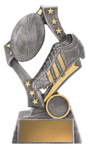Flag Theme Rugby Trophy