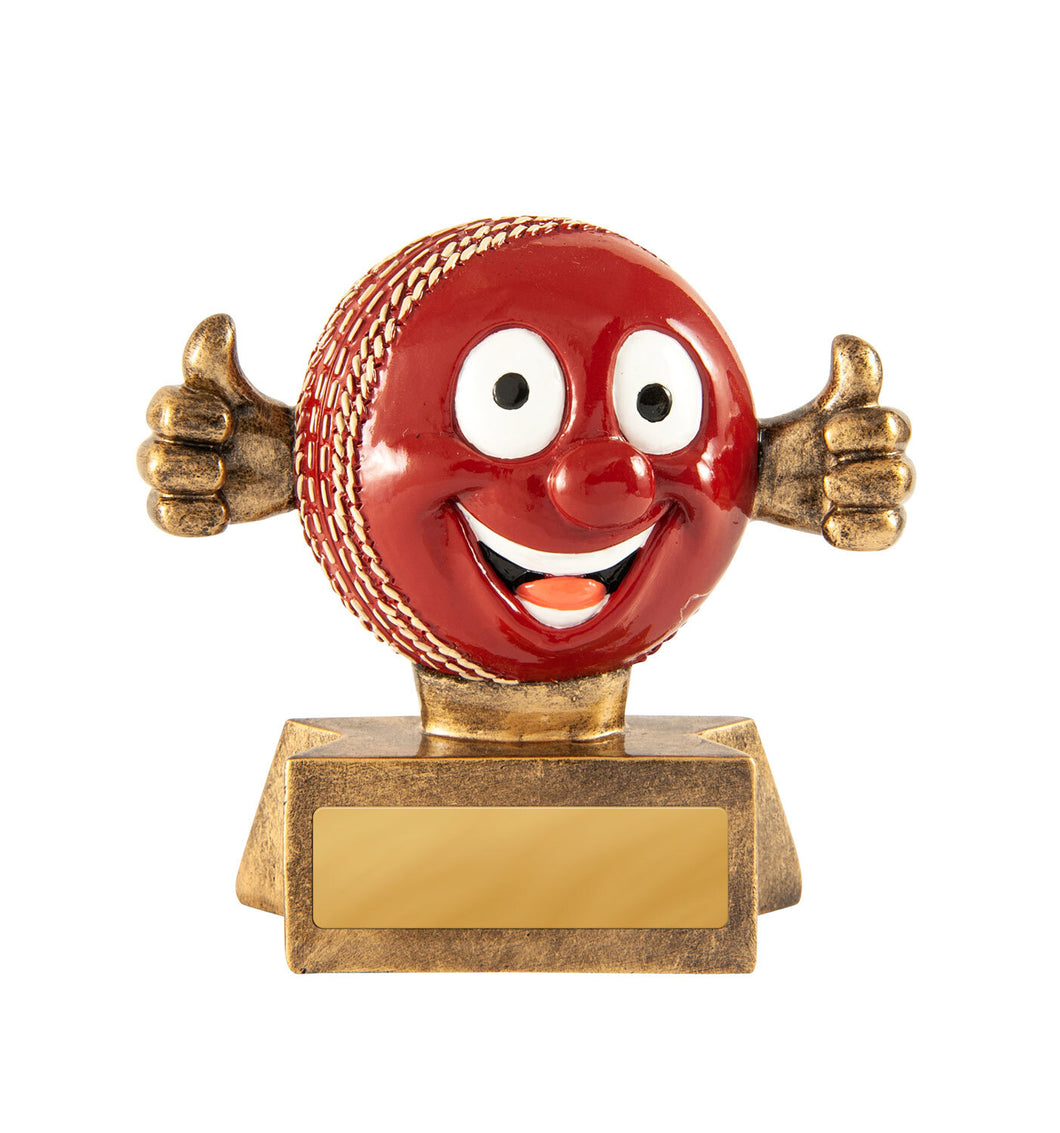 Smiling Cricket Ball Trophy