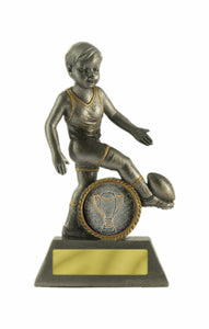 601G-3 Little Champs AFL Trophy - perfect for the kids & great price too Available in Gold or Silver 125mm in height, Engraving and club logo included, Gold Coast Trophies, West Burleigh