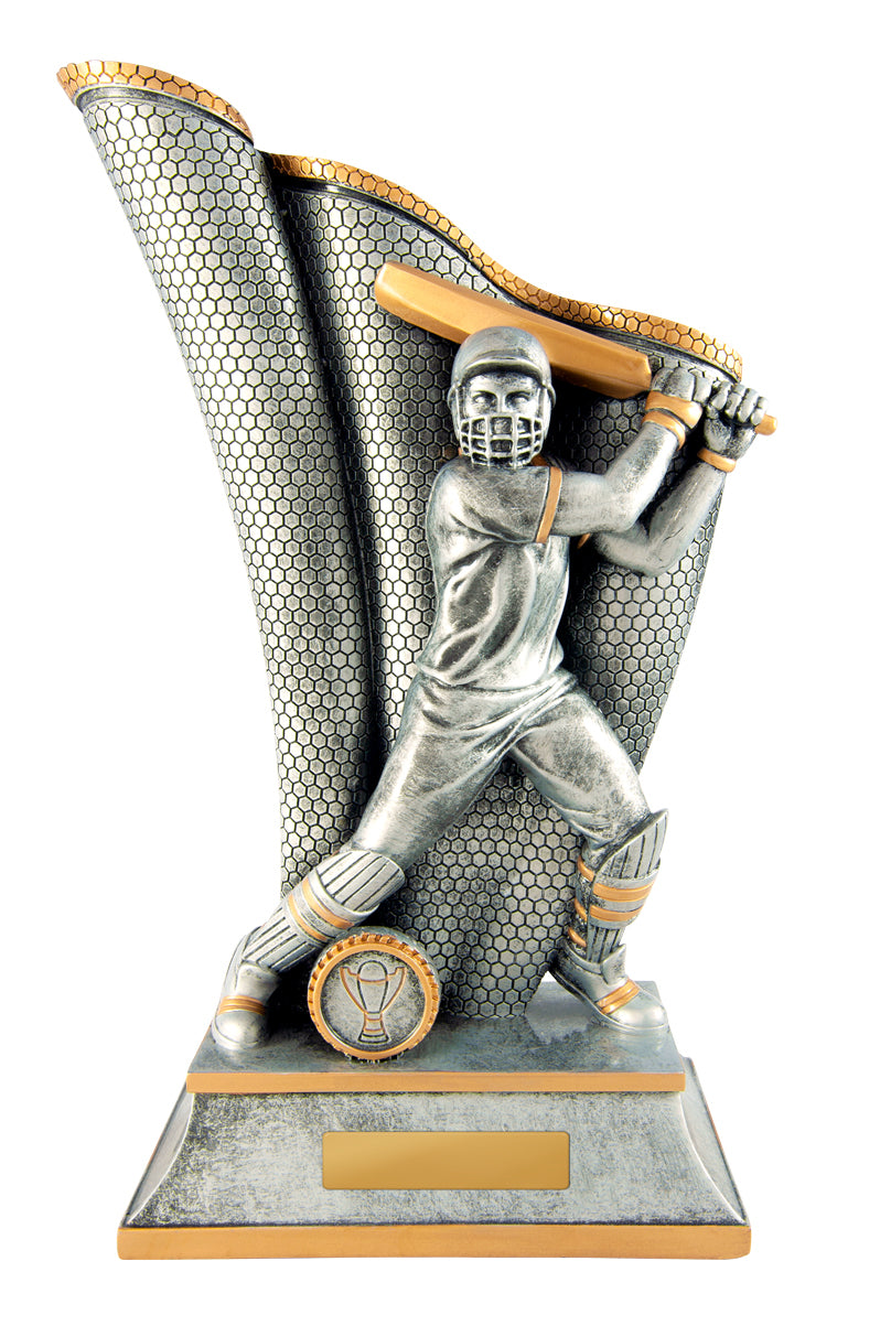cricket batsman batting trophy robina