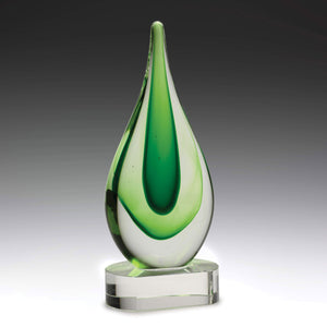 AG310 Earth Art Glass inspired by the Earth presenting a calming green design 235mm in height, Gold Coast Trophies Burleigh West Gold Coast