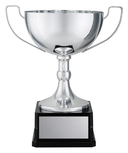 CO222 Elite Vista Cup, Metal Cup & Rise with Weighted Plastic Base Prestige Range, Elite Range  all-metal silver cups are a prestigious line of awards perfect for celebrating high achievements  4 Sizes:  240mm / 260mm / 290mm / 310mm available, Engraving Included, Gold Coast Trophies, West Burleigh