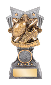Electra Touch Trophy, 150mm high - gold and silver resin - Gold Coast Trophies, Qld