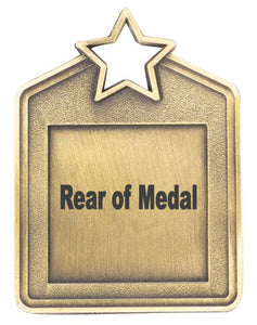 Swimming Star Medal - Rectangle Shape