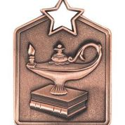 MS2034B Bronze Knowledge Star Rectangle Medal 60mm Ribbon and Engraving Included Gold Coast Trophies Burleigh Heads