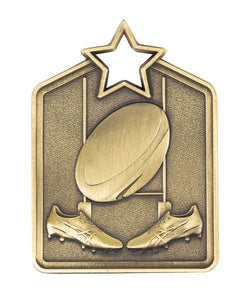 Rugby Star Medal - Rectangle Shape