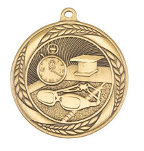 Load image into Gallery viewer, Swimming Wreath Design Medal - 55mm
