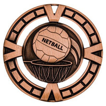 Load image into Gallery viewer, Netball Varisty Medal - 65mm