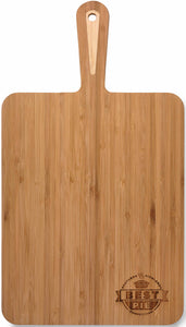 QB905  Bamboo chopping board with hand - laser engraved design included - pick up locallly Burleigh, Gold Coast - or ship Australia Wide