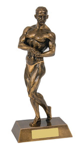 RM150 - Female Body Building trophy, posing - Gold resin. Collect from Gold Coast Trophies Burleigh Heads, Qld or we can delivery Australia Wide.