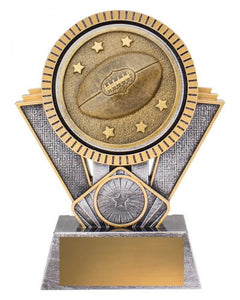SR131B Spartan AFL / Aussie Rules Series Offer a Bold & Distinctive Extra Heavy 3D Enhanced Design, Engraving & Logo included. Gold Coast Trophies Burleigh Heads