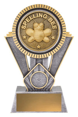 SR177C Spelling Bee Spartan Trophy Bold & Distinctive Spartan Academic Series Offer an Extra Heavy 3D Enhanced Design Gold Coast Trophies Near Varsity