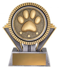 Load image into Gallery viewer, Spartan Paw Print Pet Trophy