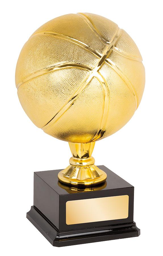 TG20276 Bright & Shiny Gold Basketball Award Gold Ball with Black Base  2 Sizes:  210mm / 390mm available, Engraving included, Gold Coast Trophies Burleigh West