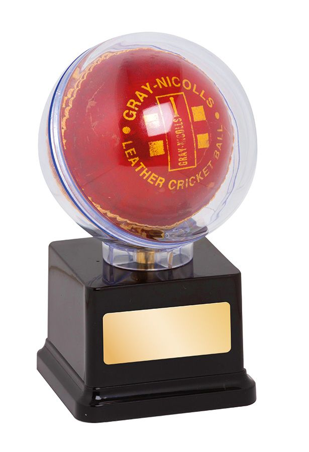 TGS20278 - Cricket Ball Holder great for display and presentation of cricket ball - 140mm high - Gold Coast Trophies, Qld - deliver or collect