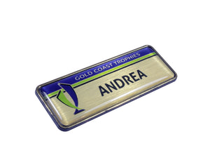 Standard Name Badges with Resin Dome Finish