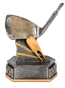 JW2154W Gold Wedge/Iron Golf Award 155mm in height, Engraving included