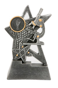 jw7533b Science Award Trophy Silver Resin Engraving and Logo Included Gold Coast Trophies near Robina Gold Coast