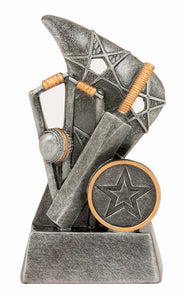 JW9964 - Reno Series Star Cricket Trophy with Wicket, Bat & Ball