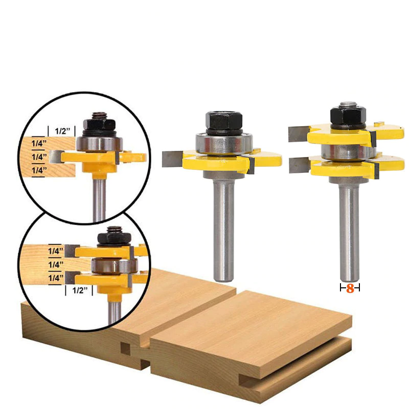 Tongue & Groove Assembly Router Bit Set