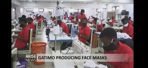 LOCAL FACE MASK PRODUCTION: GATIMO APPAREL GETS FEATURED ON ARISE NEWS - ruffntumblekids