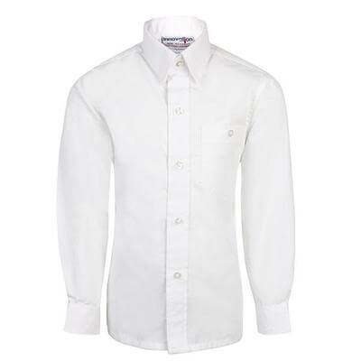 BOYS LONG SLEEVE PACKET SHIRT - WHITE