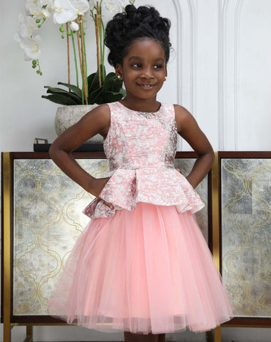 tulle girls party gown