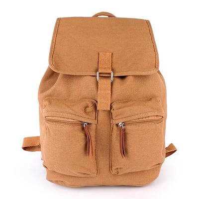 UNISEX BROWN DOUBLE SIDE CARGO BACKPACK