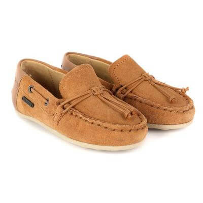 BABY BOYS LEATHER MOCCASIN - BROWN