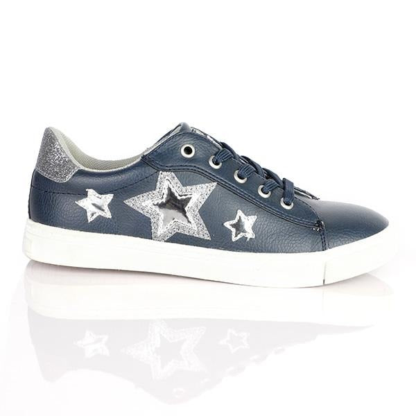 NAVY GIRL KIDS SNEAKERS - ruffntumblekids