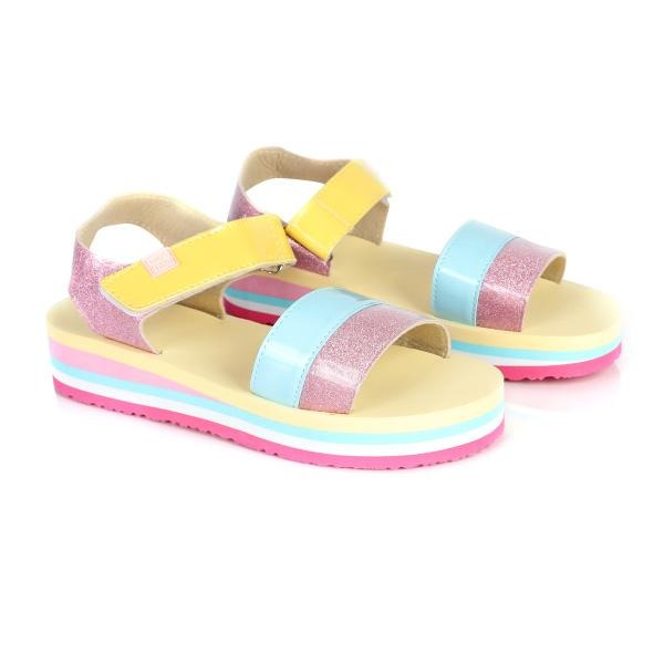 girls multi-color fancy sandals_ruffntumblekids