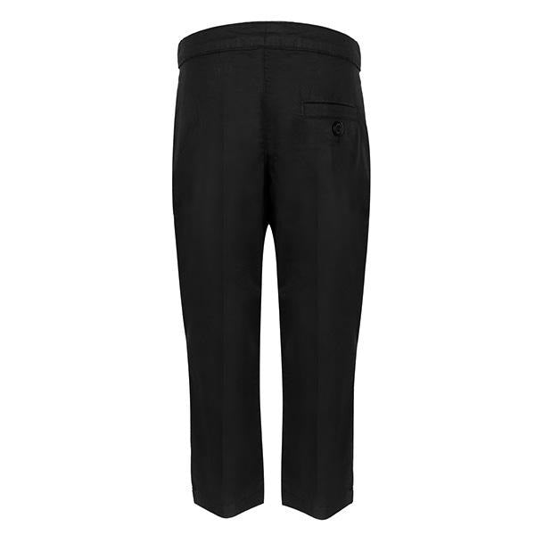 BABY BOY BLACK PLAIN TROUSER - ruffntumblekids