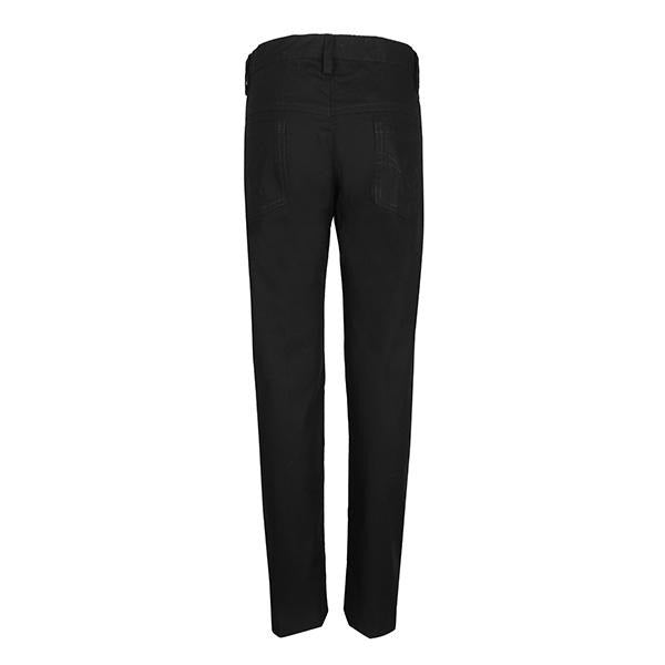 BOYS 5 POCKET  PLAIN BLACK TROUSER - ruffntumblekids