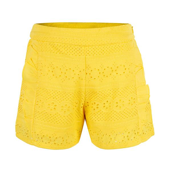 GIRLS YELLOW SHORTS