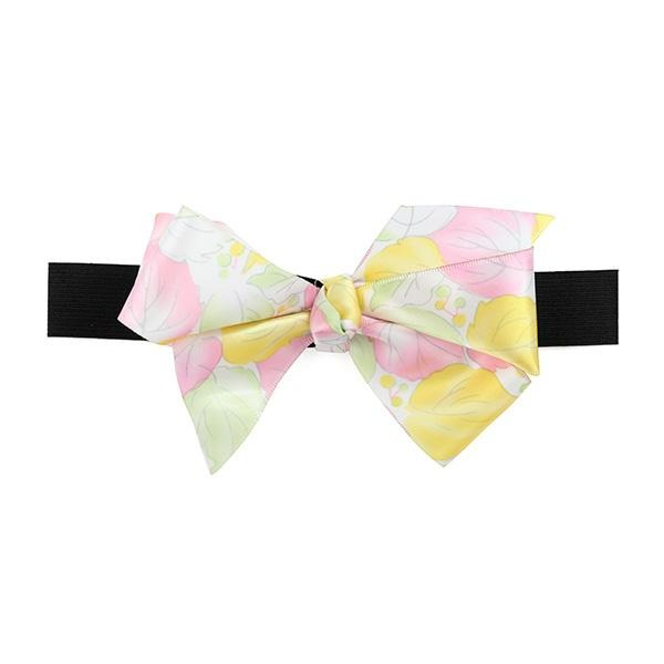 MULTI FLORAL BOW ELASTIC BAND