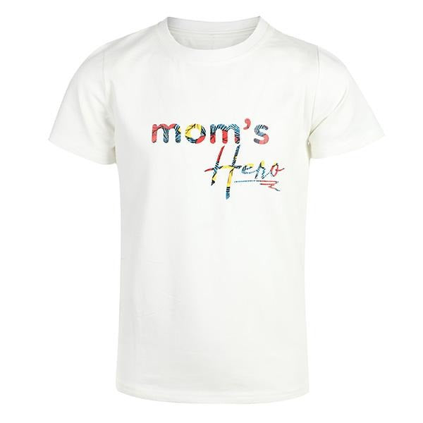 BOYS WHITE MOM'S HERO T-SHIRT - ruffntumblekids