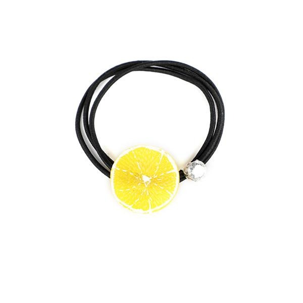 YELLOW ORANGE FRUIT HAIR BAND
