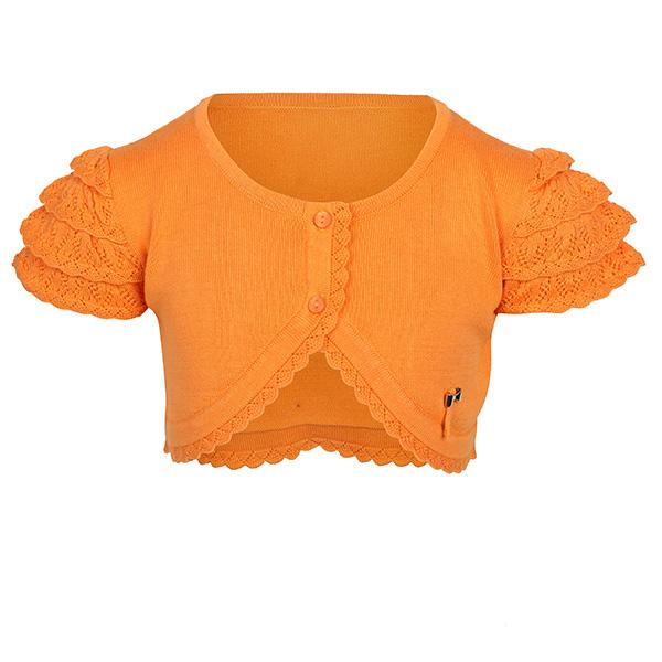 TANGERINE KNIT COTTON CARDIGAN