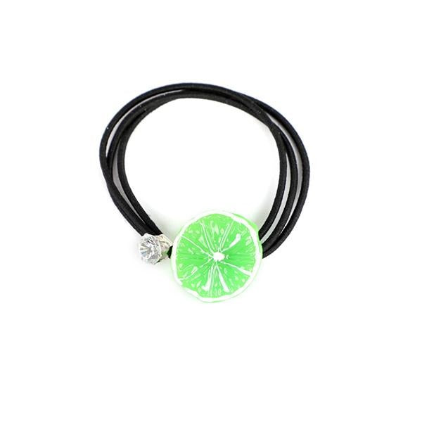 GREEN ORANGE FRUIT HAIR BAND