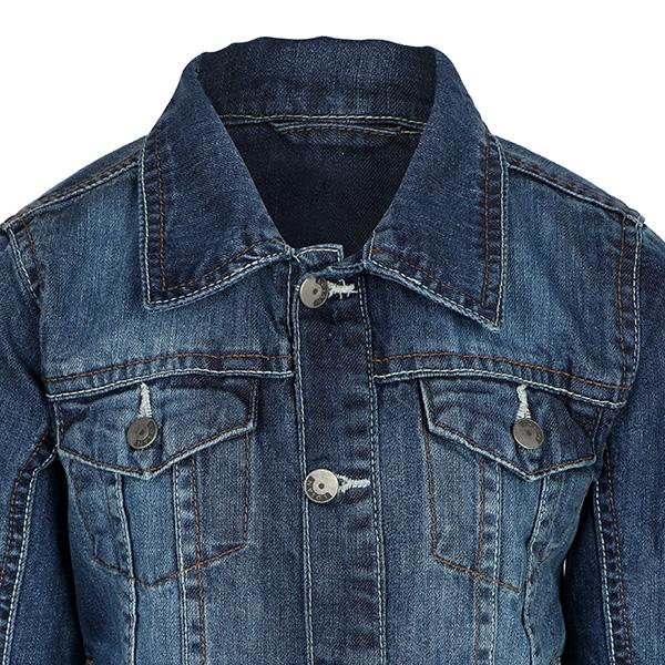 GIRLS DENIM BUTTON DOWN JACKET